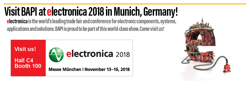 BAPI will be at electronica 2018